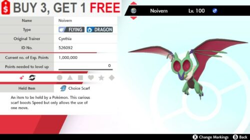 ✨Shiny Noivern✨Pokemon Sword and Shield Perfect IV🚀Fast Delivery🚀