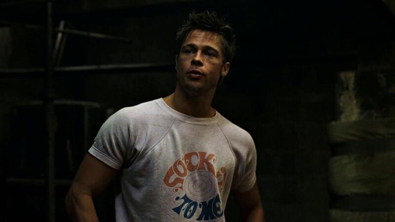 Brad Pitt Fight Club SOCK IT TO ME sweat T shirt, tee