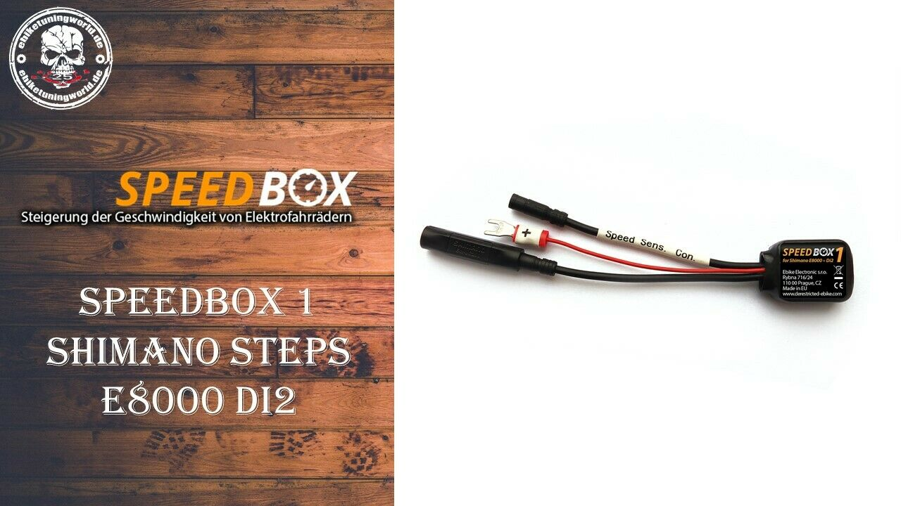 Speedbox1 für Shimano Steps E8000 Di2 E-Bike Tuning Pedelec Ebike Tuning Chip