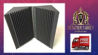 "2 Pack Acoustic Foam Bass Trap Recording Studios Corner Panel 12"" X 12"" X 24""."