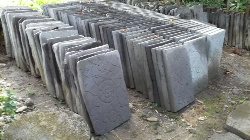 Large carved Lava Steping stone 60x40x5cm price for 1 large paver