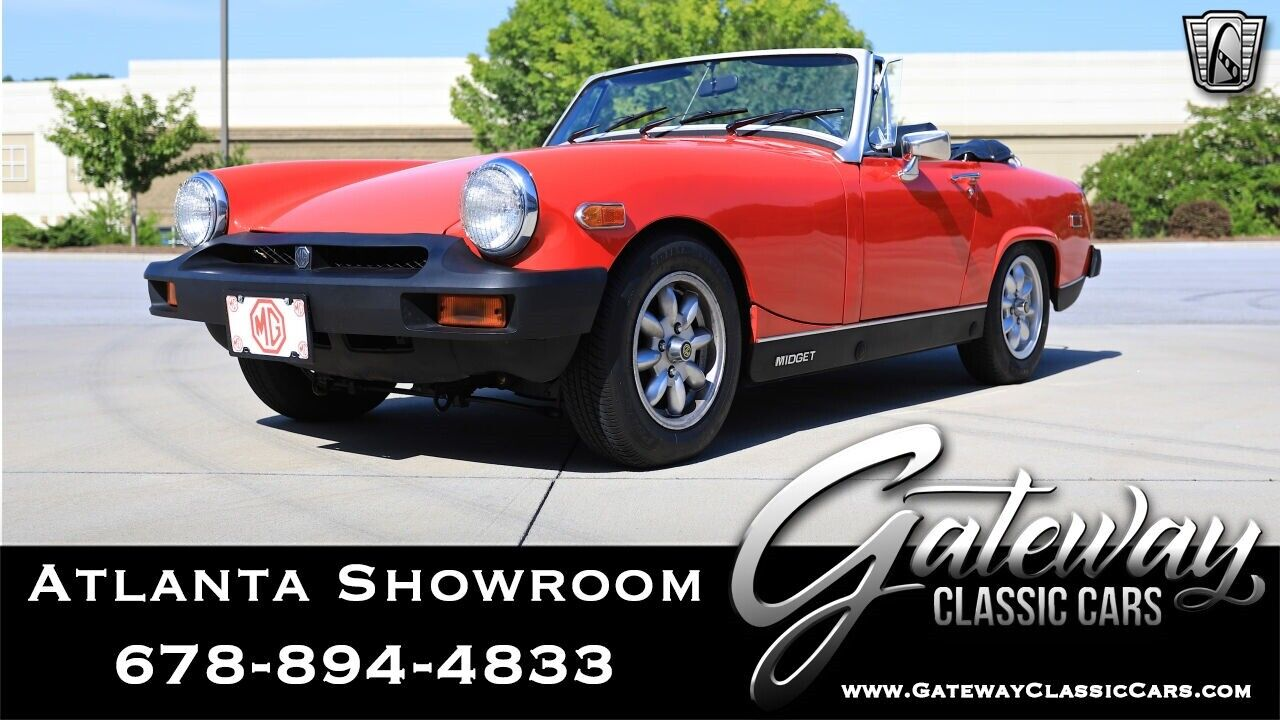 Red 1978 MG Midget Convertible 4 cylinder OHV 4 speed manual Available Now!