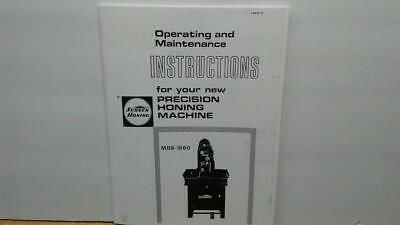 Sunnen Mbb-1660 Honing Machine Service Manual
