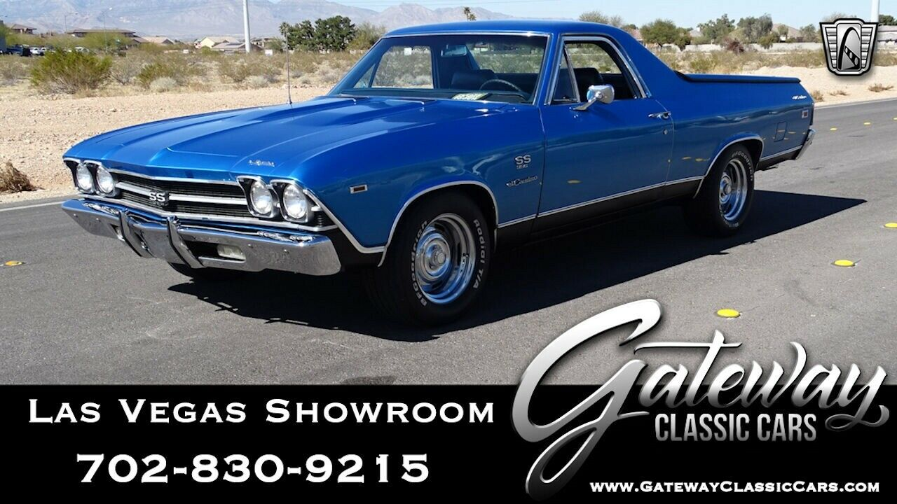 Lemans Blue 1969 Chevrolet El Camino Numbers Matching, Low Miles  396 V8 Automat