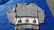 llama wool super soft pullover with llamas woven into pattern Wellington Point Redland Area Preview