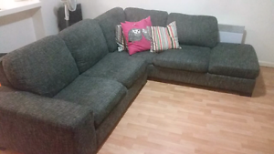 L-shaped sofa and cushions Elsternwick Glen Eira Area Preview