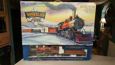 BACHMANN BIG HAULERS Wonderland Flyer Train Set LARGE G SCALE Christmas Santa