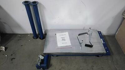 Vestil Ht-10-2036a 1000 Lb Load Cap 54 Max Lift H Manual Mobile Post-lift Table