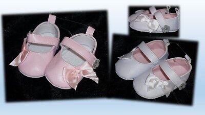 s Ballerinas Taufe Feier rosa weiß Schleife Blume Glitzer (Taufe Feier)