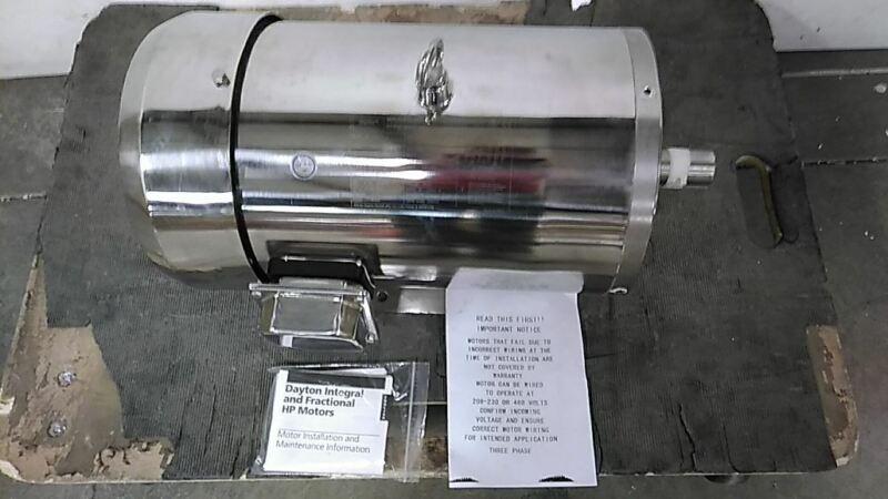 Dayton 2RKY9A 7-1/2 HP 1755 RPM 230/460VAC 3-Phase Washdown Motor