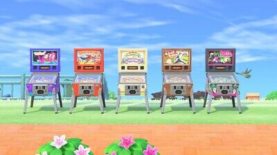 Animal Crossing New Horizons Pinball Machines Full Set 🕹️ FAST Delivery ACNH