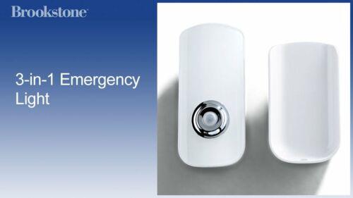Brookstone 3-in-1 Emergency Backup Light NEW  **FREE SHIPPING**