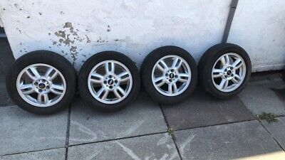 "GENUINE MINI ONE COOPER 15"" R118 5 STAR TWIN SPOKE ALLOY WHEELS"