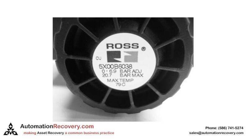 ROSS 5X00B6038A  PNEUMATIC PRESSURE REGULATOR,  20.7 BAR MAX 79 C TEMP,  #129994