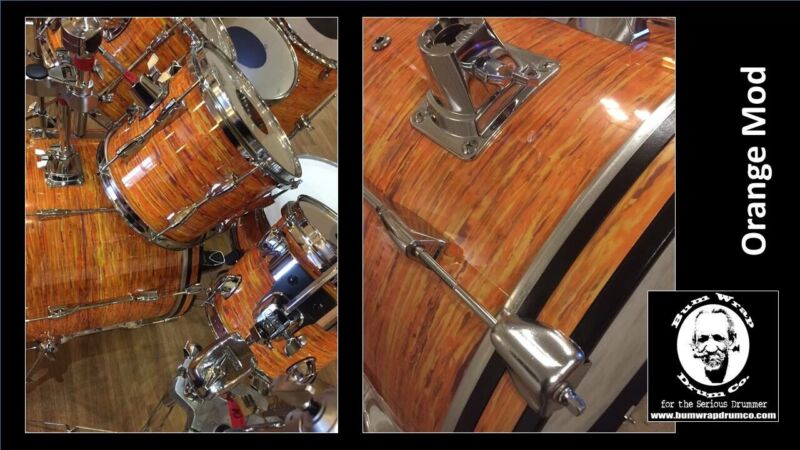 Drum Wrap For Snare 14x6.5. Semi Faded Orange mod