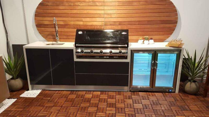 Outdoor Kitchen 3m Engineered Stone 47 Waterfalls Bbq