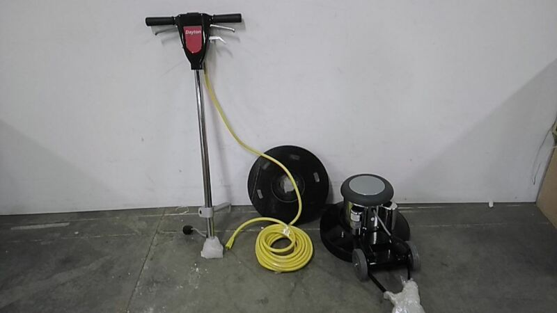 Dayton 6UFR5 1.5 HP 175 RPM 115V 17 In Machine Size Single Speed Floor Scrubber