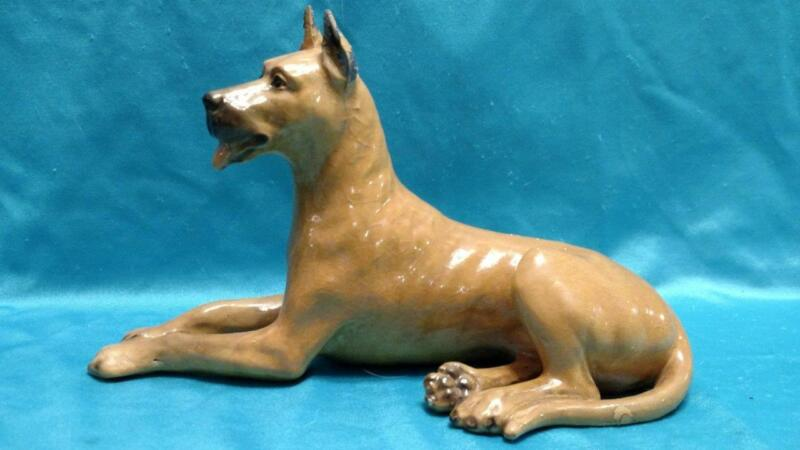 Mortens Studio Large Fawn Great Dane Dog Figurine