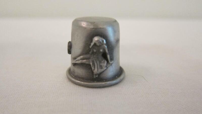Vintage RR Pewter Sewing Thimble Zodiac Sign Virgo The Maiden