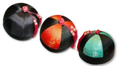 Traditional Chinese Noble Hat Oriental Melon Peel Cap Asian Mens & Boys - Chinese Hats