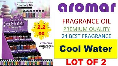 2 Aromar Aromatherapy Essential Fragrance 100% Concentrate Oil 2.2 COOL WATER 2X