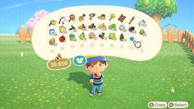 Animal Crossing New Horizon items -  10 in game items : infurniture, recipe, etc