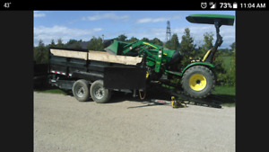 Compact tractor and dump trailer for hire