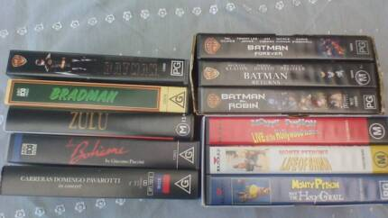 video tapes for VCR. 11 tapes in total