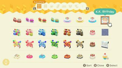 Animal Crossing New Horizons ACNH : Custom Birthday Sets *READ Description*