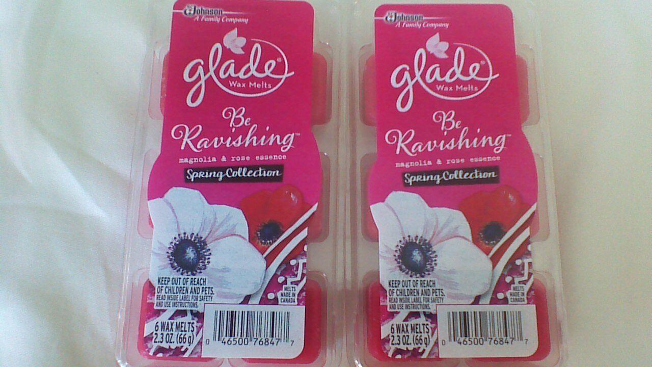 12 Glade Be Ravishing Wax Melts Magnolia & Rose Essence Spri