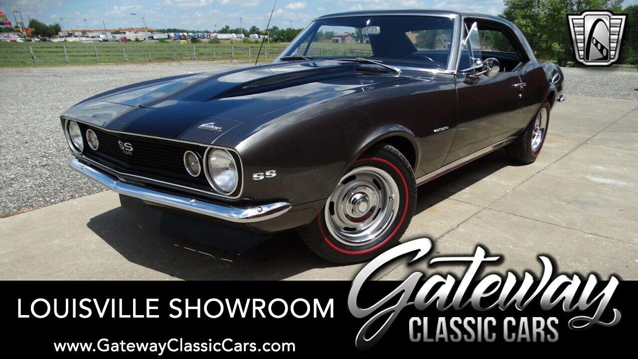 Dark Gray w/Black Stripes 1967 Chevrolet Camaro Coupe 350 CID V8 4 Speed Manual