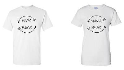 Papa Bear Mama Bear Shirts Birthday Present For Dad Mom Funny Idea Tee ()