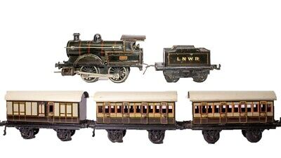 VINTAGE PRE-WAR BING #2663 GEORGE THE 5TH 0-GAUGE  BRITISH PASSENGER TRAIN SET  for sale  Shipping to Canada