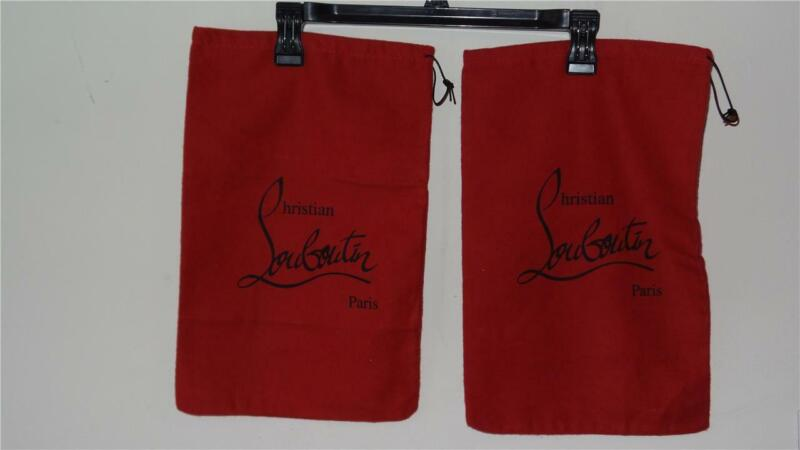 BRAND NEW 2 CHRISTIAN LOUBOUTIN RED DUST BAGS Storage Bags W/ a Draw String