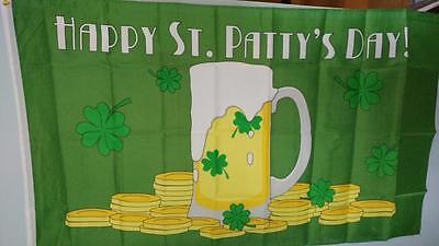 3 x 5 Flag St Patty's Day Holiday Flag USA Seller - FREE FLAG