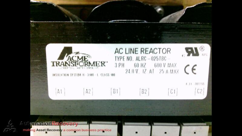 ACME TRANSFORMER ALRC-025TBC- AC LINE REACTOR 3 PH 60HZ 480V, SEE DESC #184216