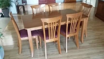 Dinning Table And Six Chairs For Sale