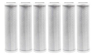 6-PACK Of 5 Micron Carbon Block CTO Coconut Shell Water Filter Cartridge 10