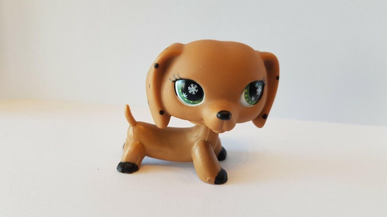 Figurine   petshop original chien dog teckel daschund monopoly pet shop lps (1)