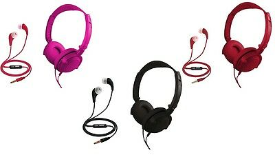 Coby 2-in-1 Combo Folding Over Ear Headphones + Earbuds w/ B
