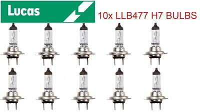 10x Lucas LLB477 12V 55W H7 PX26D 2 Pin Headlight Dipped Beam Bulb H7 BULB 10PK