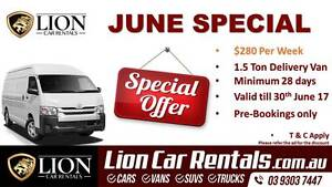 LION - JUNE SPECIAL $280 Per Week - 1.5T Craigieburn Hume Area Preview