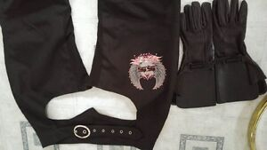 Women's. Chaps and gloves