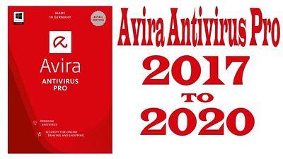 Avira Antivirus Pro Version 2017 Premium Antivirus Security Suite 3 Years 3 Pc
