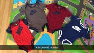 Baby boy Nike onesies size 9-12months
