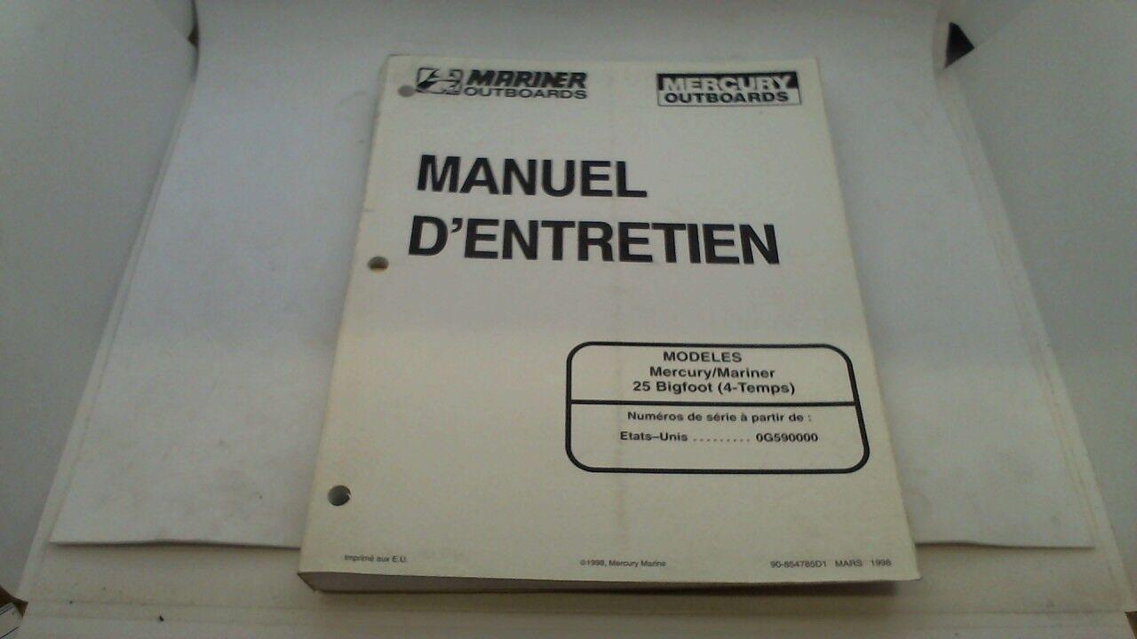 manuel technique atelier entretien mercury mariner 20 jet 25 mar. sea pro 1998->