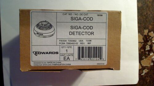 EST EDWARDS SIGA-COD INTELLIGENT CARBON MONOXIDE DETECTOR BRAND NEW IN BOX