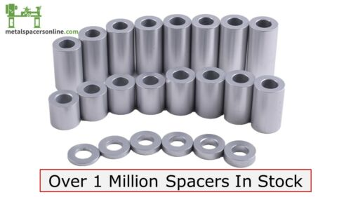 """New Aluminum Spacer Bushing 3/4"""" OD x 3/8"""" ID--Fits M10 or 3/8"""" Bolts"""