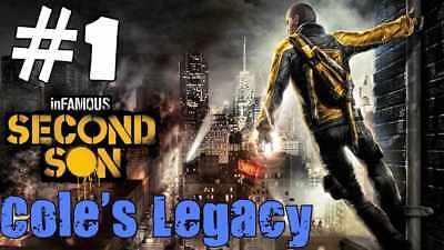 INFAMOUS Second Son Limited Edition Cole's Legacy DLC - RARE PLAYSTATION 4 PS4