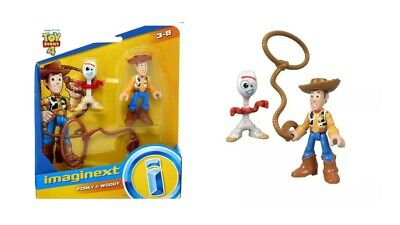 Fisher Price Disney / Pixar Imaginext Toy Story 4 Forky & Woody Figure Set